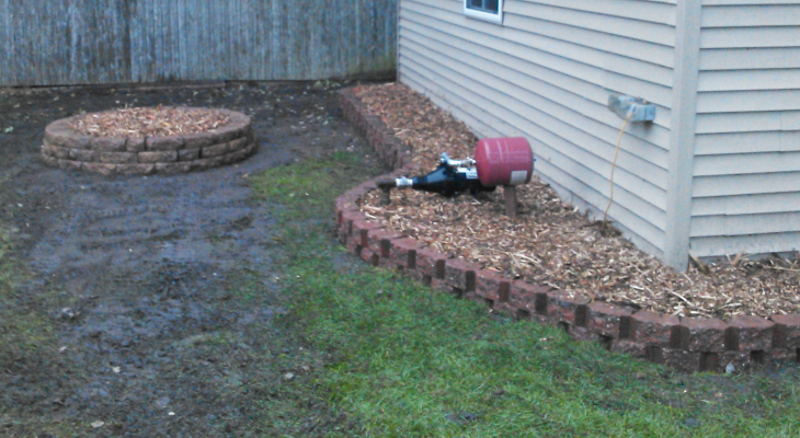 landscaping brick work